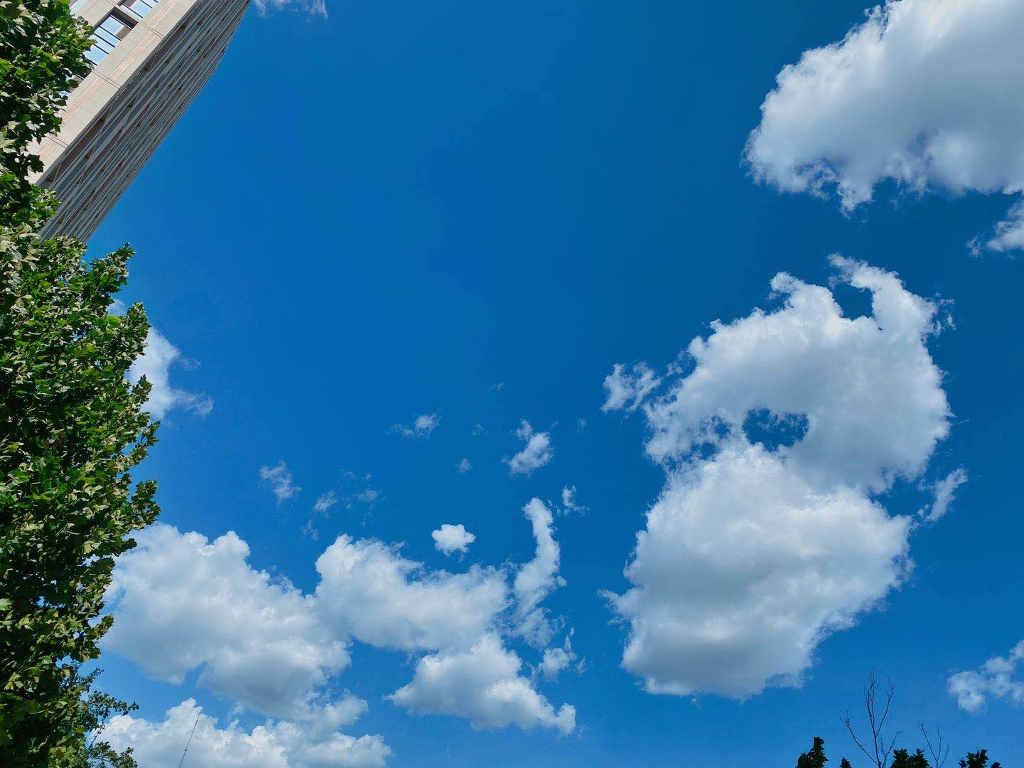 Blue sky and white clouds in Beijing